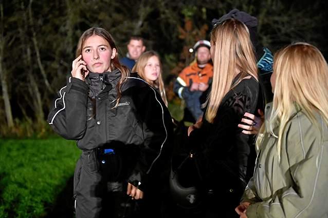 Tre piger sprøjter