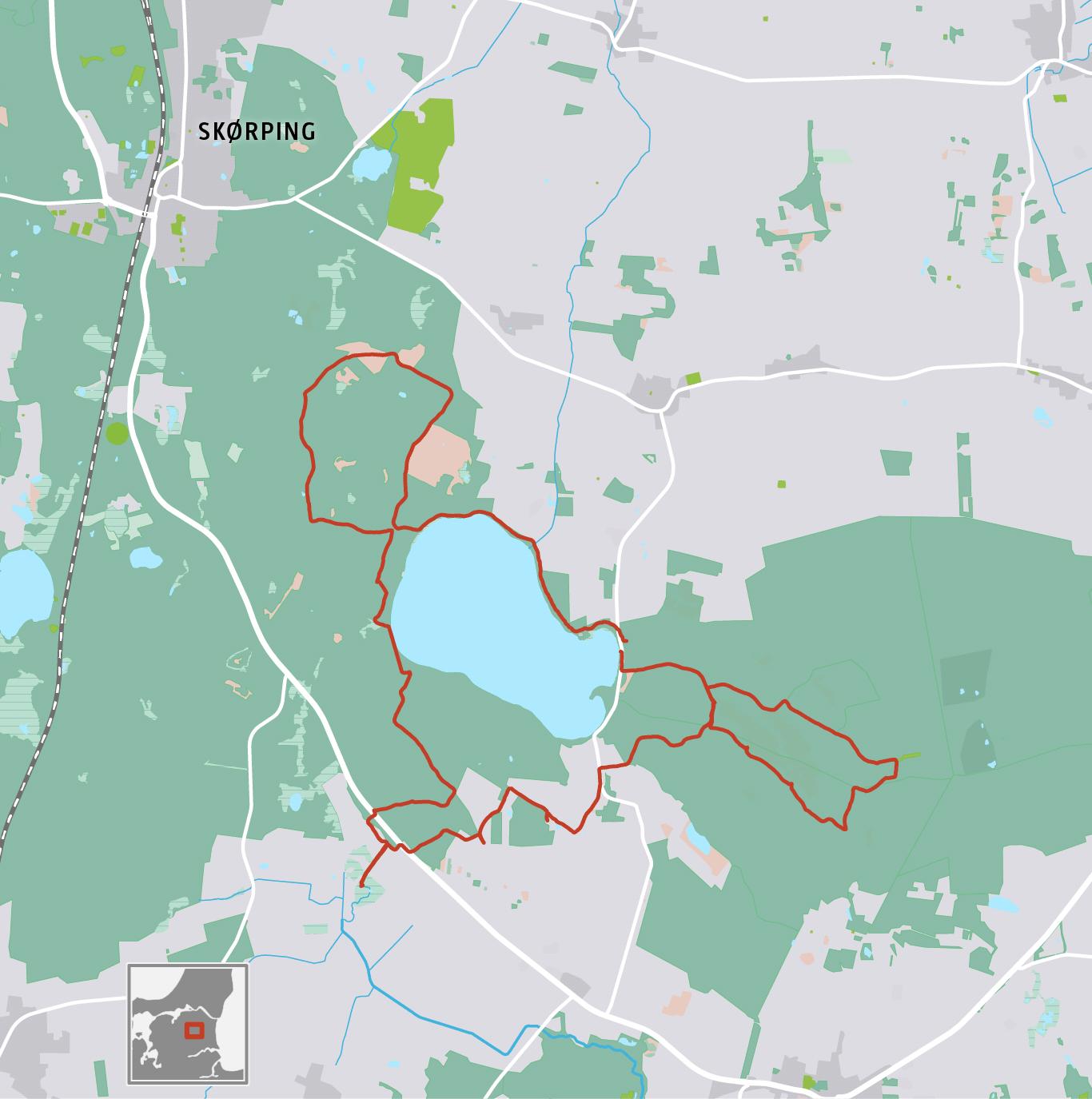 Grafik: Vandretur i Rold Skov